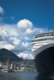 Dock de bateau de croisière à Monte Carlo Image stock
