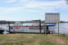 Dock de bateau de croisière de la Reine de lacrosse - lacrosse, le Wisconsin Photo stock