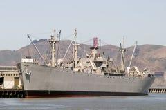 Dock de bateau de guerre de 45 degrés Image libre de droits