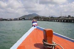 Dock de bateau de pêche Photographie stock