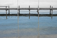 Dock de bateau sur le lac Starnberg image libre de droits