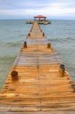 Dock de Belize Image stock