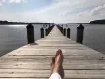Dock de chesapeake Photos libres de droits