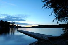 Dock de coucher du soleil Photo stock