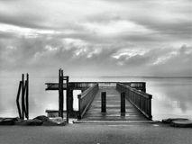 Dock de la baie photographie stock