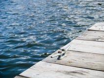 Dock de lac Photos stock
