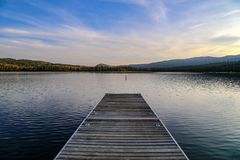 Dock de lac redfish en Idaho Photographie stock libre de droits