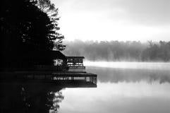 Dock de lever de soleil Photographie stock libre de droits