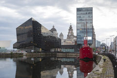 Dock de Liverpool Image stock