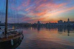 Dock de Malaga Photos libres de droits
