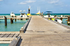 Dock de mer dans Aruba Photos stock
