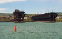 Dock de minerai de fer Photographie stock