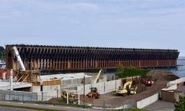 Dock de minerai de fer Image libre de droits