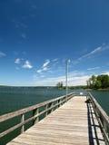 Dock de pêche Photographie stock libre de droits