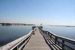 Dock de pêche photo stock