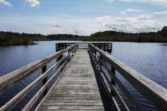 Dock de pêche images libres de droits