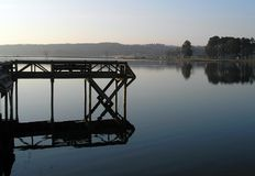 Dock de pêche Photos libres de droits