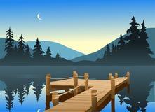 Dock de pêche Image stock