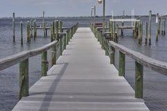 Dock de quai et de bateau Image libre de droits