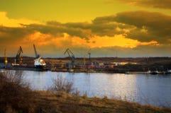 Dock de réparation de bateau Photo libre de droits