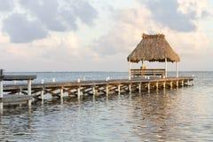Dock de station de vacances Image stock