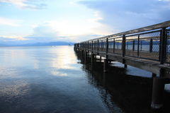 Dock de Tahoe images stock