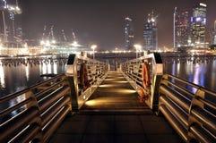 Dock de ville Images libres de droits