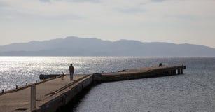 Dock de ville de Datca, Turquie Images stock