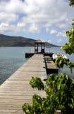 Dock an der Inselrücksortierung Stockbild