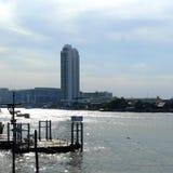 Dock des kleinen Bootes Stockbilder