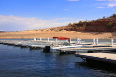 Dock in the desert Royalty Free Stock Images