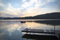 Dock and Diving Platform, Little Squam Lake, NH Stock Photos