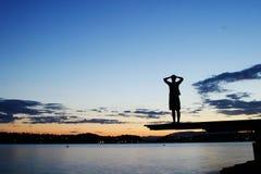 Dock at Dusk Royalty Free Stock Photography