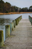 Dock at Eastern Neck. Dock view over water in evening Royalty Free Stock Images