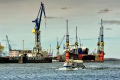 Dock Elbe 17, Hamburg, Deutschland Lizenzfreies Stockfoto