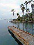 Dock en bois à la station de vacances Photos libres de droits