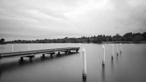 Dock en bois Photos libres de droits