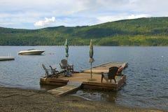 Dock en bois privé Image stock