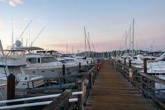 Dock et port de Sausalito Photos libres de droits