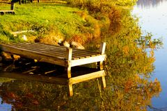 Dock fall reflection Royalty Free Stock Photo
