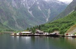 Dock in fiord Stock Photography