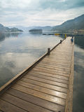 Dock in the Fjord. Typical wood dock in the fjord of Nordheimsund Stock Photography