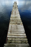 Dock Floating in Blue Water Stock Photos