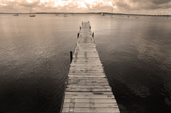 Dock Floating in Lake Water Royalty Free Stock Photo