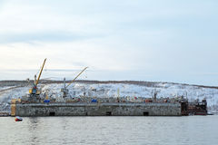 Dock flottant Photographie stock