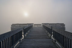 Dock in Fog Royalty Free Stock Images