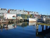 Dock fonctionnant Photo libre de droits
