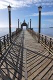 Dock of Frutillar, in Chile Stock Photo