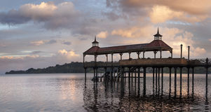 Dock of Frutillar, in Chile Stock Photography