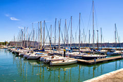 Dock full of boats Royalty Free Stock Photography